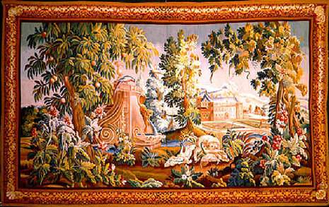 7914 Aubusson Tapestry 8.5 x 13